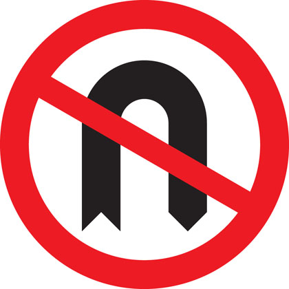 Do not Make a U-turn.