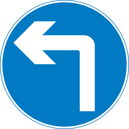 Left turn only