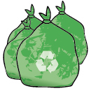 Green recycling bag